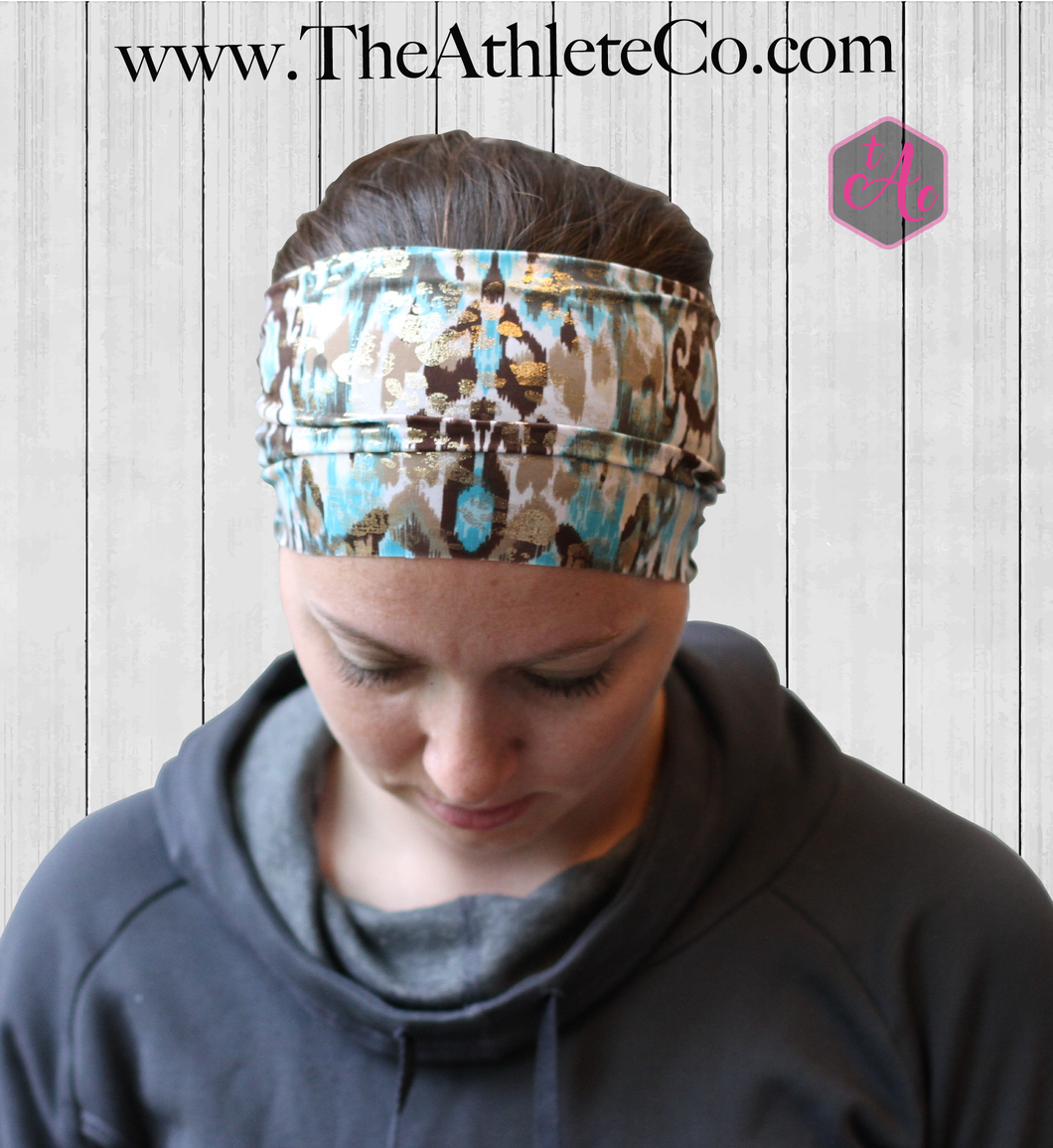 Gold and Blue Headband