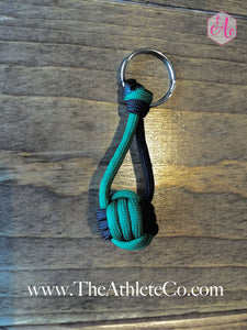 dark green volleyball keychain