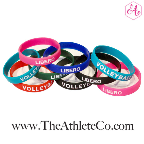Silicone volleyball bracelet