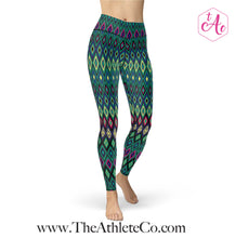 peacock athletic leggings