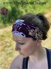 Purple and Gold Floral Headband