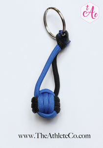 royal blue volleyball keychain