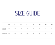 Star Athletic Leggings Size GUide