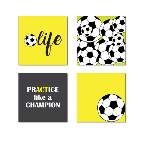 Soccer Magnets, Yellow