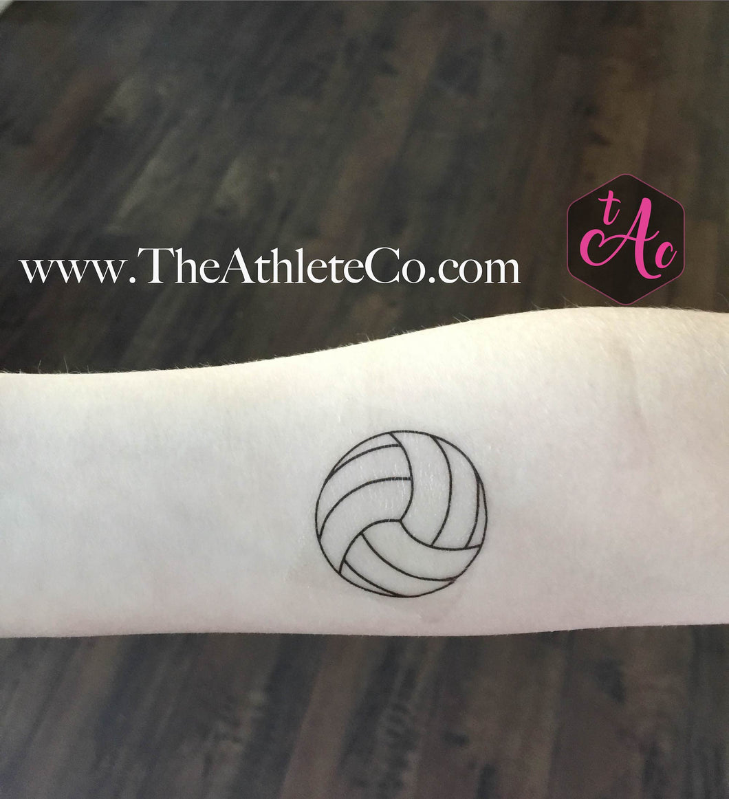volleyball temporary tattoo
