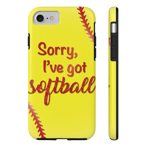 Sorry, I've Got Softball Phone Case