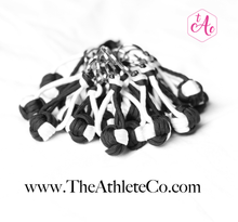 black and white volleyball keychain