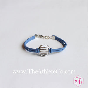volleyball bracelet blue