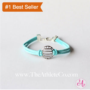 volleyball bracelet light blue
