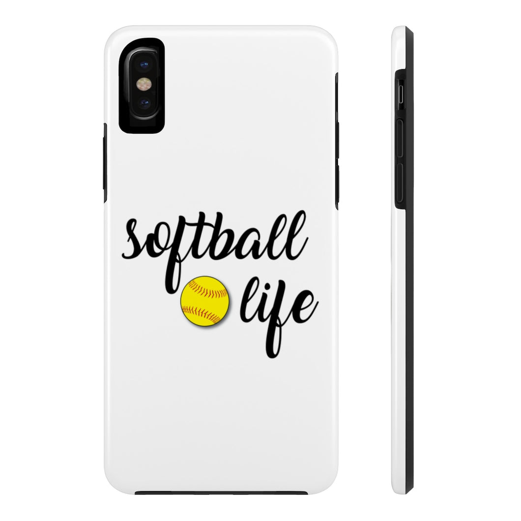 Softball Life Tough Phone Case