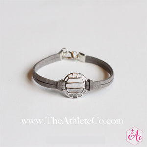 volleyball bracelet gray