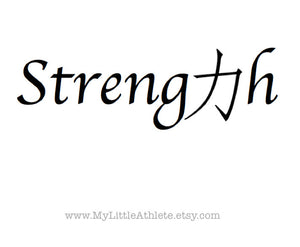 strength quote temporary tattoo