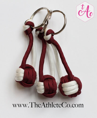 maroon volleyball keychains