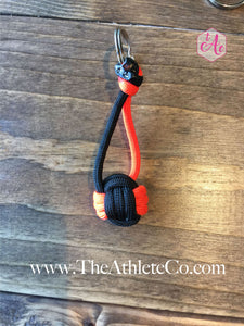 orange volleyball keychain