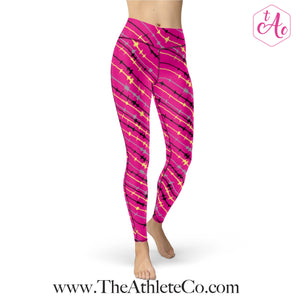 pink athletic leggings