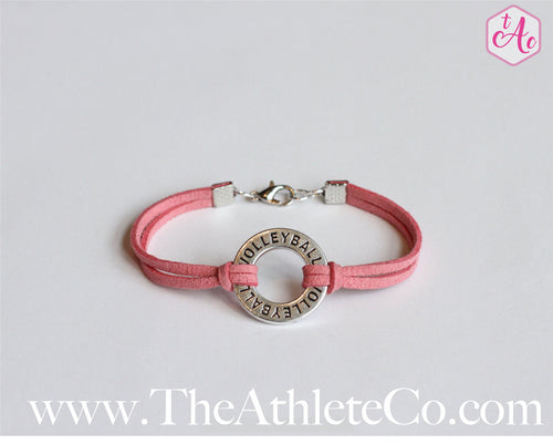 circle volleyball charm bracelet