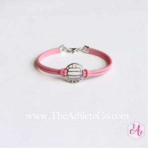 volleyball bracelet pink