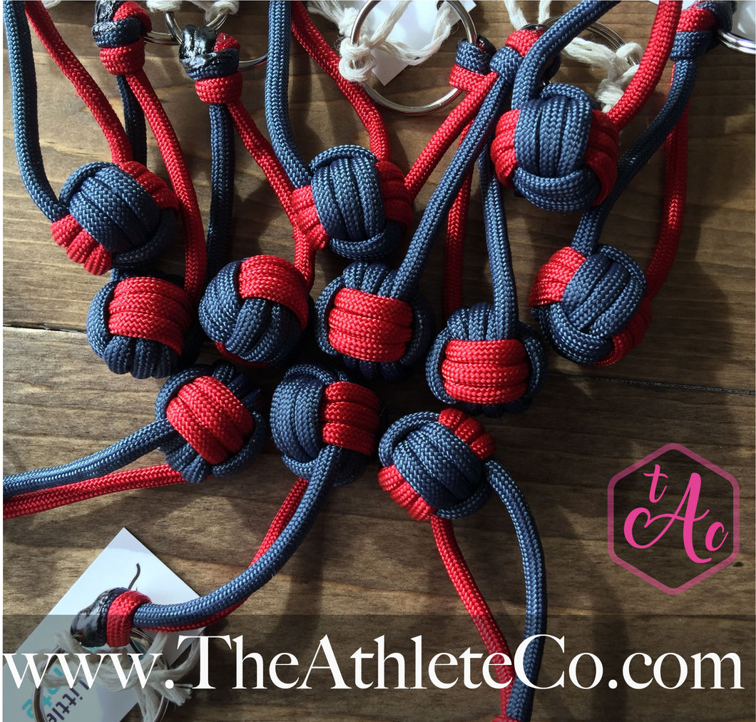 navy blue volleyball keychain