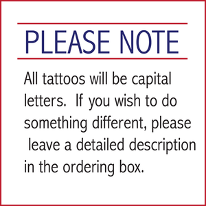 Temporary Tattoos - School Spirit