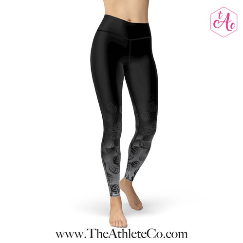 black volleyball leggings