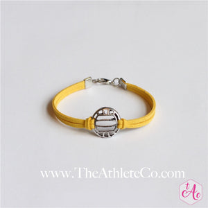 volleyball bracelet yellow