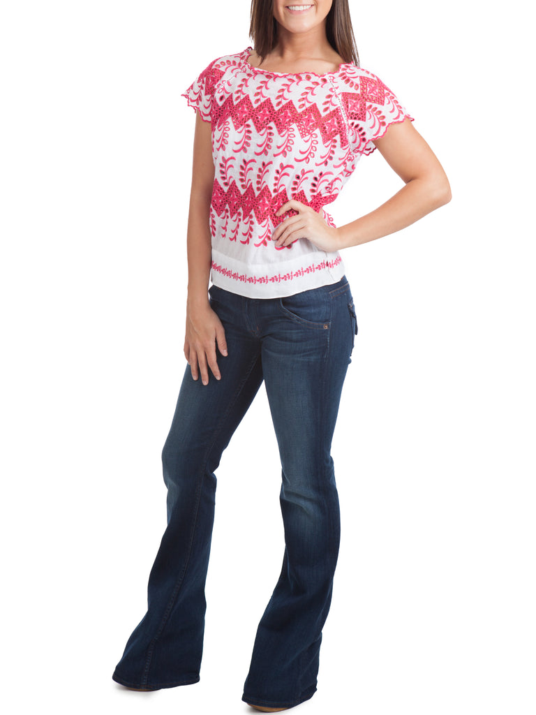 The Mercantile Vanessa Virginia Embroidered Eyelet Blouse