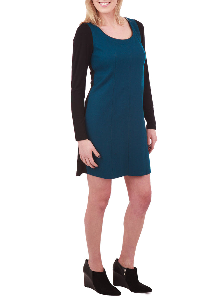 Phoebe Couture Long Sleeve Color Block Dress - The Mercantile