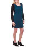 Phoebe Couture Long Sleeve Color Block Dress