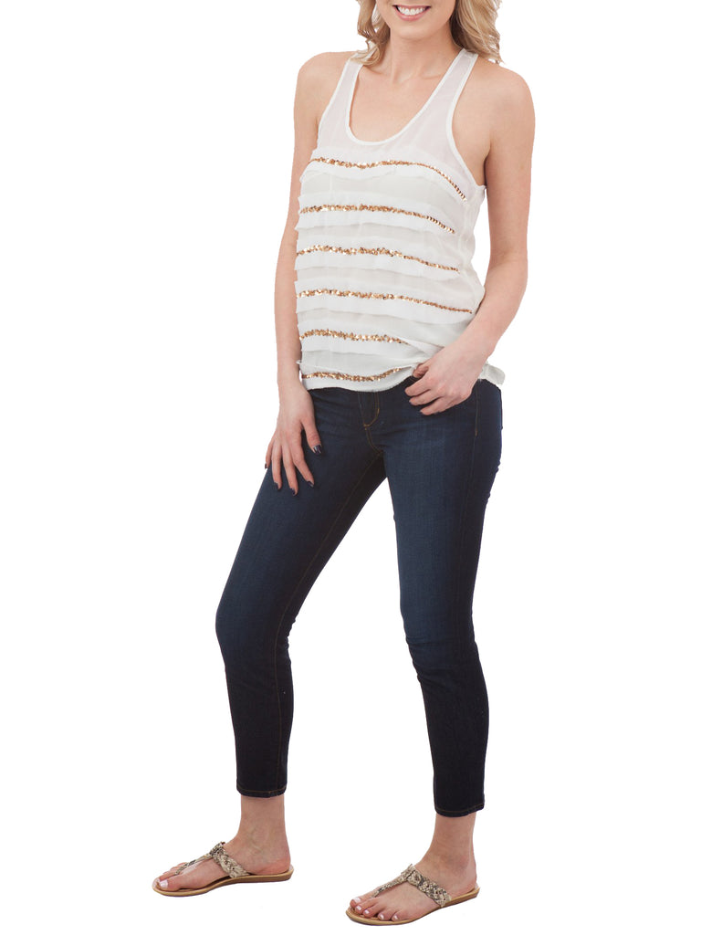 Patterson J. Kincaid Misty Beaded Tank - The Mercantile