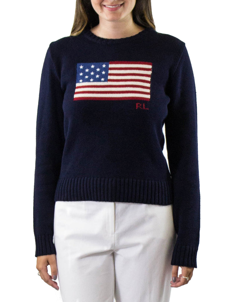 Polo Ralph Lauren American Flag Sweater ...