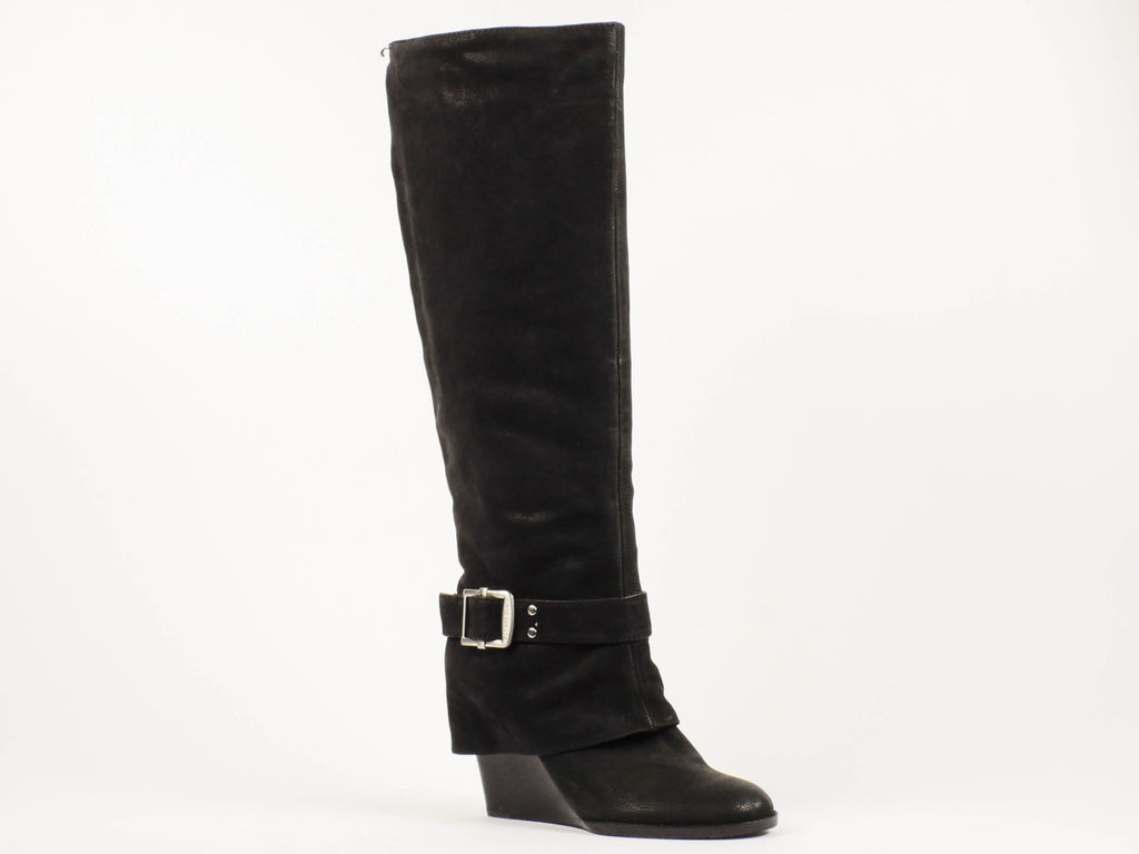 Vince Camuto Alician Black Suede Wedge Boot - The Mercantile