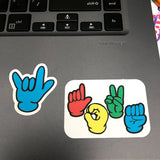 ASL Keyboard (+Bonus!) Stickers