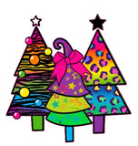 Stickamajigger® Merry & Bright Restickable Christmas Tree Decal