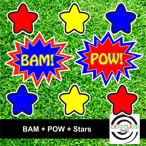 Super Hero - BAM POW Stars Set