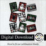 """Believe"" Buffalo Plaid Santa + Red Nose Reindeer Digital Bundle"