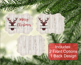 Red Buffalo Plaid Deer on Wood & Lace