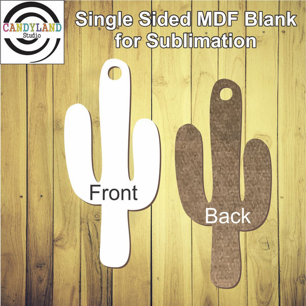 Cactus shape MDF blank for sublimation