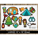 Camping Kids Flannel Board Felt Story Set