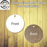 Circle MDF Blanks - Single Sided
