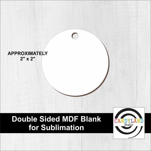 Circle MDF Blanks - Double Sided