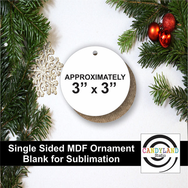 Circle Ornament MDF Blanks - Single Sided