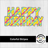 Happy Birthday Restickable Decal