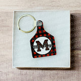 Set of 5 Cow Tag MDF Blanks - Ornament or Keyring