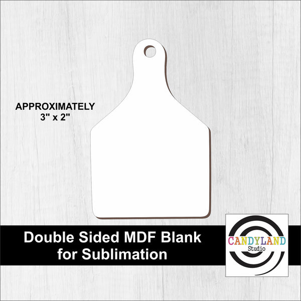 Cow Tag MDF Blanks - Double Sided