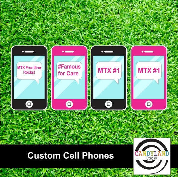 Set of 4 Custom Cell Phones