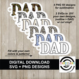 MOM & DAD Keychain Digital Design Bundle