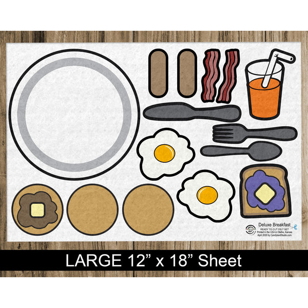Deluxe Breakfast Flannel Board Felt Story Set