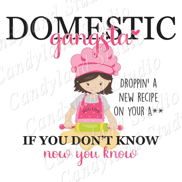 Domestic Gangsta Hug Life Baker Girl
