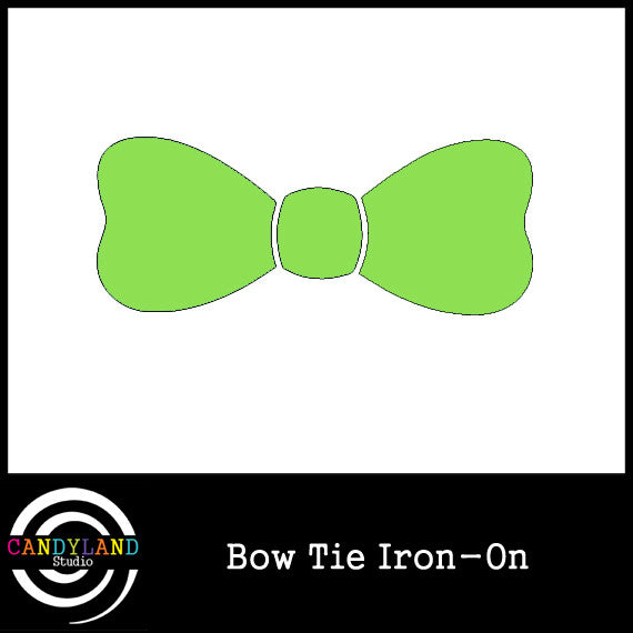Green bow tie iron on