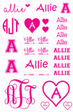 Restickable Heart Name Stickers